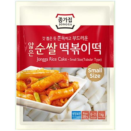 Kluski ryżowe do topokki, małe słupki 1kg Jongga
