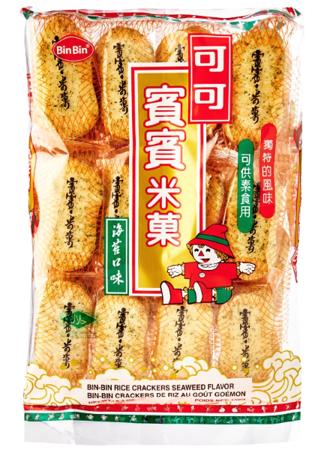 Krakersy ryżowe z wodorostami 150g Bin Bin
