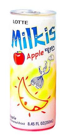 Milkis Apple, mleczny napój gazowany z witaminami 250ml Lotte
