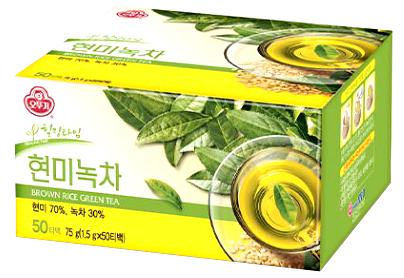 Zielona herbata z brązowym ryżem - 50 torebek Ottogi