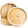Parowar bambusowy okrągły, dwupiętrowy 25 cm
